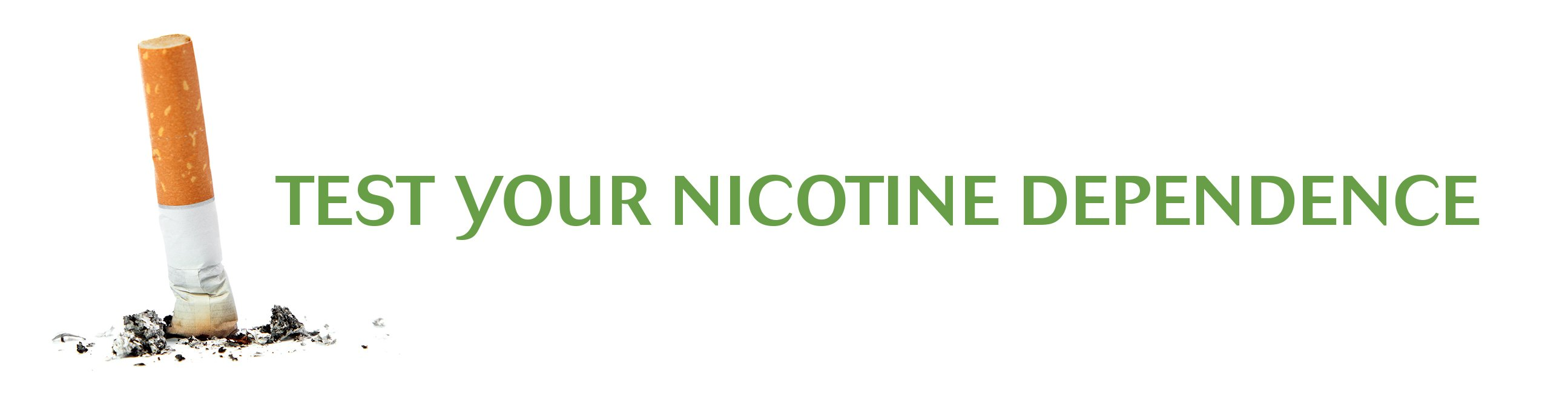 Test your nicotine Dependence