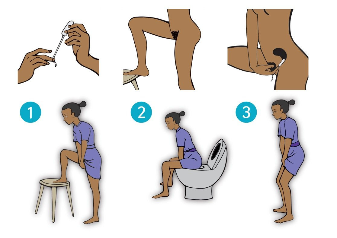 Guide to inserting a tampon