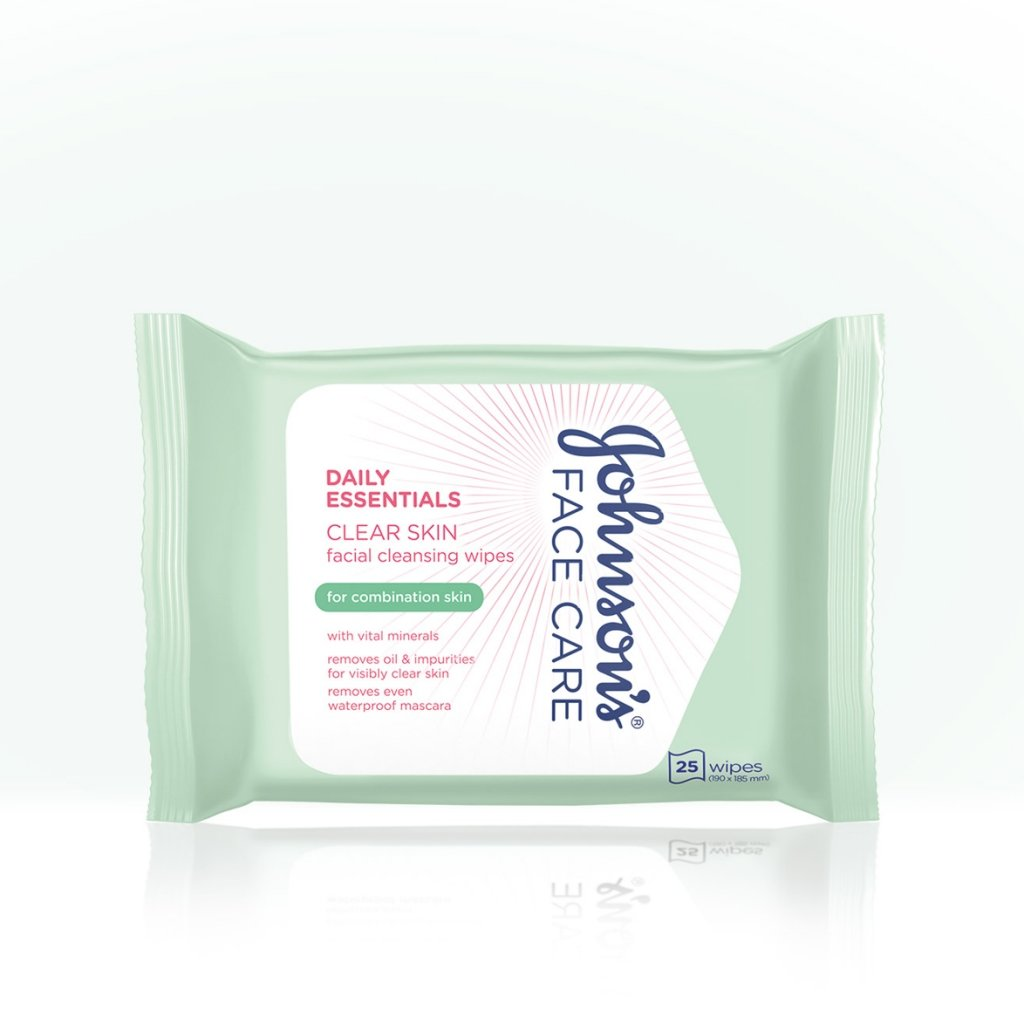 Daily Essentials Clear Skin Facial Cleansing Wipes for Combination Skin product image
